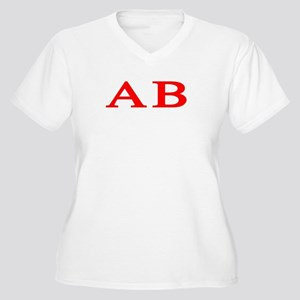 Alpha Beta Women's Plus Size V-Neck T-Shirt
